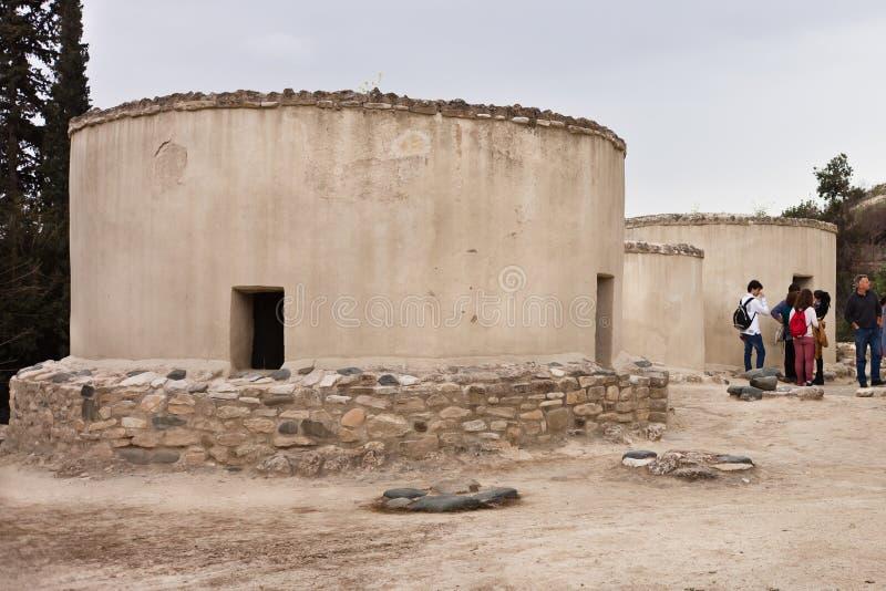 Pueblo neolítico en Chipre Choirokoitia imagenes de archivo