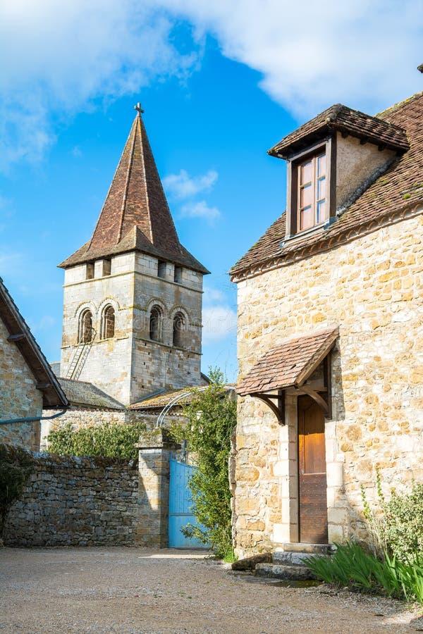 Pueblo pacífico del carennac en Francia fotografía de archivo libre de regalías