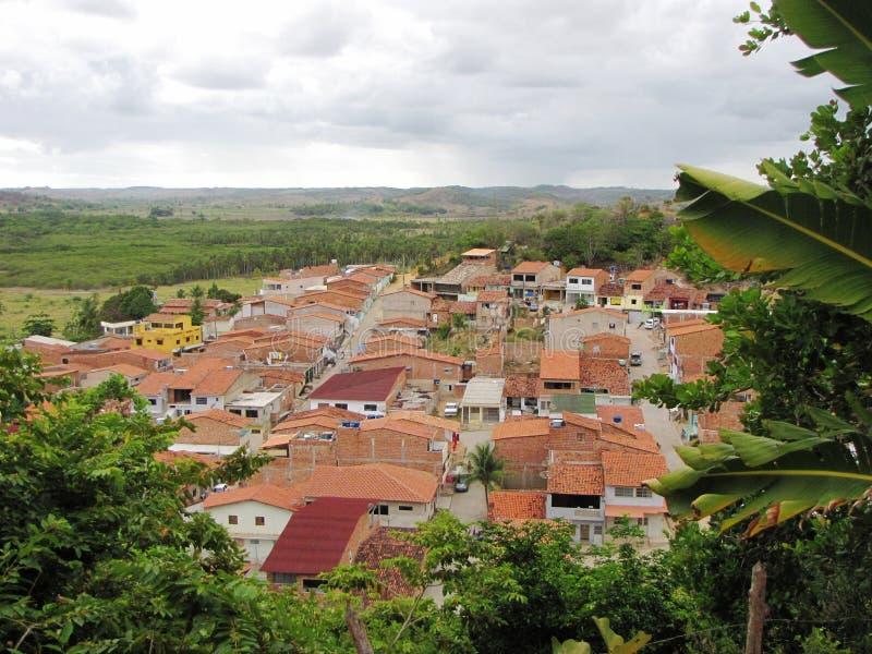 Pueblo pequeño y acogedor en Maceio, el Brasil foto de archivo libre de regalías