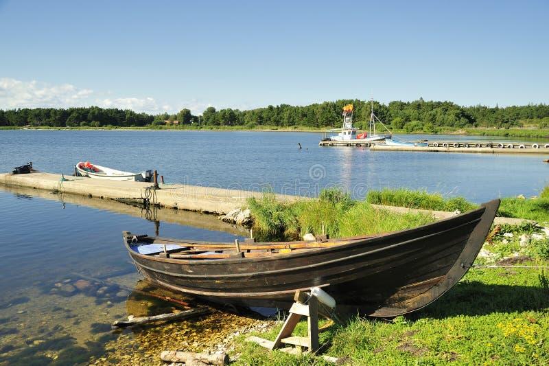 Pueblo pesquero  fotografía de archivo libre de regalías