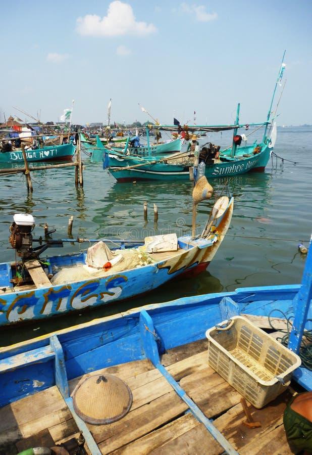 Pueblo pesquero  imagenes de archivo