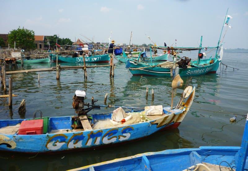 Pueblo pesquero  imágenes de archivo libres de regalías