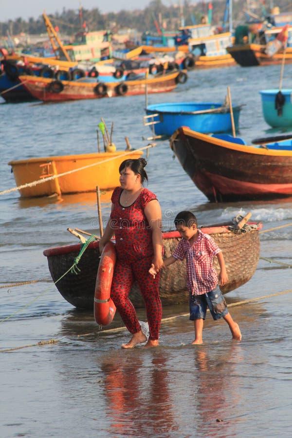 Pueblo pesquero del ne de Vietnam Mui fotografía de archivo libre de regalías