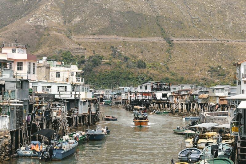Pueblo pesquero del Tai O en la isla de Lantau imagenes de archivo