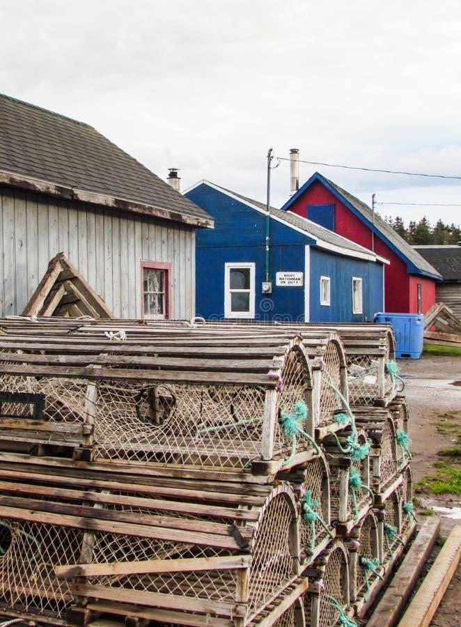 Pueblo pesquero en príncipe Edward Island imagenes de archivo