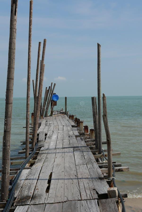 Pueblo pesquero en Teluk Pahang, Penang, Malasia foto de archivo libre de regalías