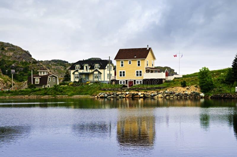 Pueblo pesquero en Terranova foto de archivo