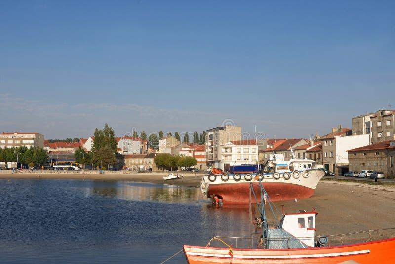 Pueblo pesquero provincia de Cambados, Pontevedra, Galicia, España imágenes de archivo libres de regalías