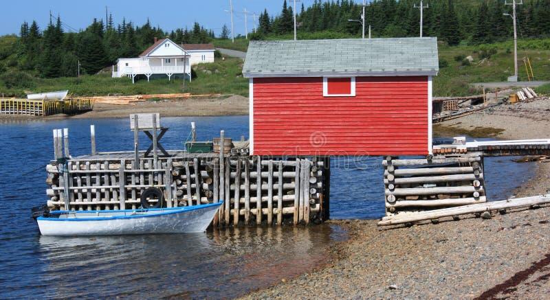 Pueblo pesquero - Terranova, Canadá fotos de archivo libres de regalías