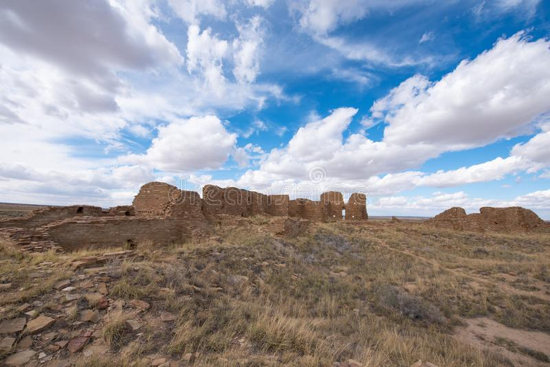 Pueblo Pintado, New Mexico. He ancient ruins of a Chaco outlier Pueblo Pintado `painted town`; perched on an impressive promontory overlooking the Chaco Wash 15 royalty free stock photos