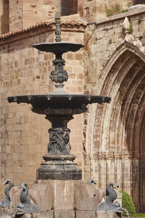 Pueblo pintoresco en Teruel Mora de Rubielos Herencia de España foto de archivo libre de regalías