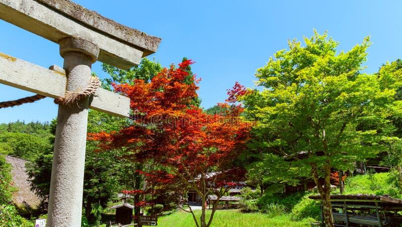 Pueblo popular de Hida - toros - Takayama - Japón foto de archivo libre de regalías