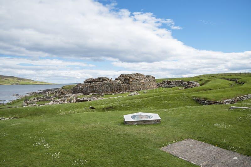 Pueblo prehistórico Escocia foto de archivo libre de regalías