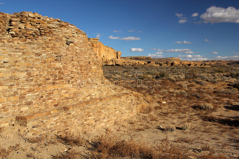 Pueblo Ruins. In Chaco Culture National Historical Park, New Mexico royalty free stock photos