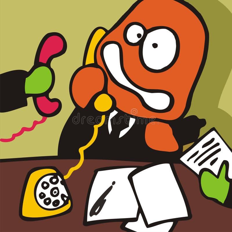 Pueblo. Tensión de Offise. stock de ilustración