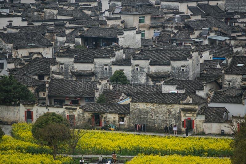 Pueblo viejo chino antiguo en el sur de China, Anhui imagenes de archivo