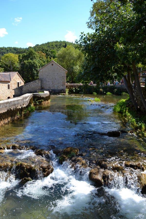 Pueblo viejo, Croacia foto de archivo libre de regalías