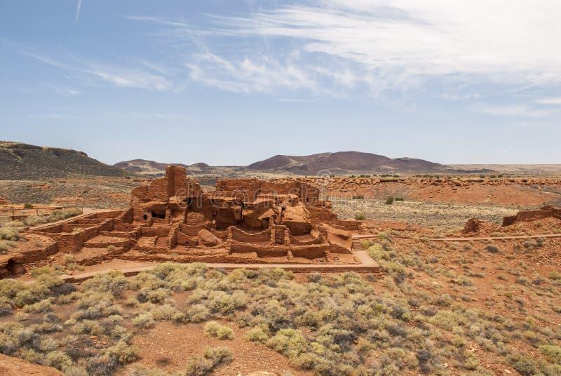 Pueblo at Wupatki National Park stock image