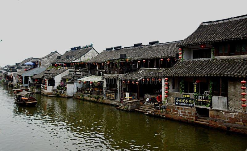Pueblo Xitang del agua imagen de archivo libre de regalías