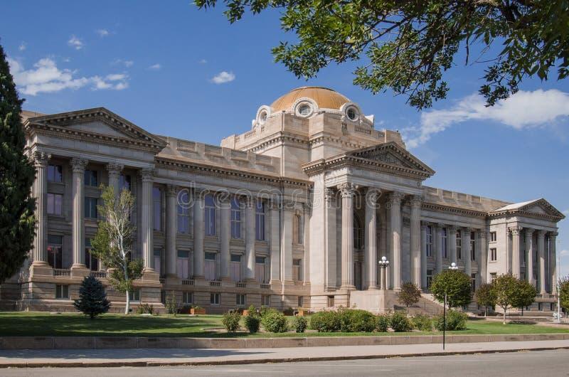 PuebloColorado County domstolsbyggnad fotografering för bildbyråer