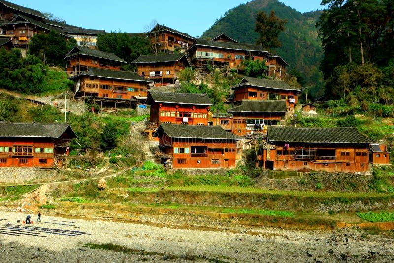 Pueblos de madera imagen de archivo