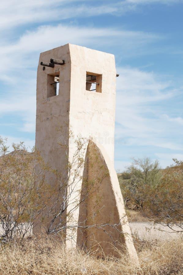 Puebloturm, der vorüber Zeiten darstellt lizenzfreies stockbild