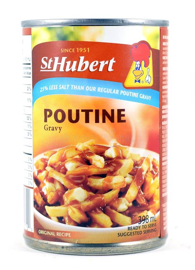 Pueda de la salsa del St Hubert Poutine Gravy foto de archivo libre de regalías