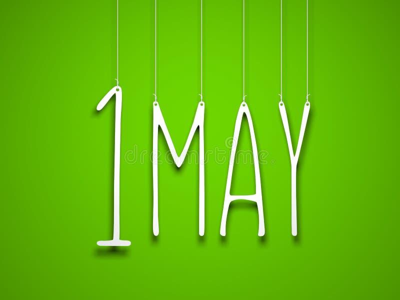 1 puede - la palabra blanca suspendida por las cuerdas en fondo verde El ejemplo para puede los días de fiesta stock de ilustración
