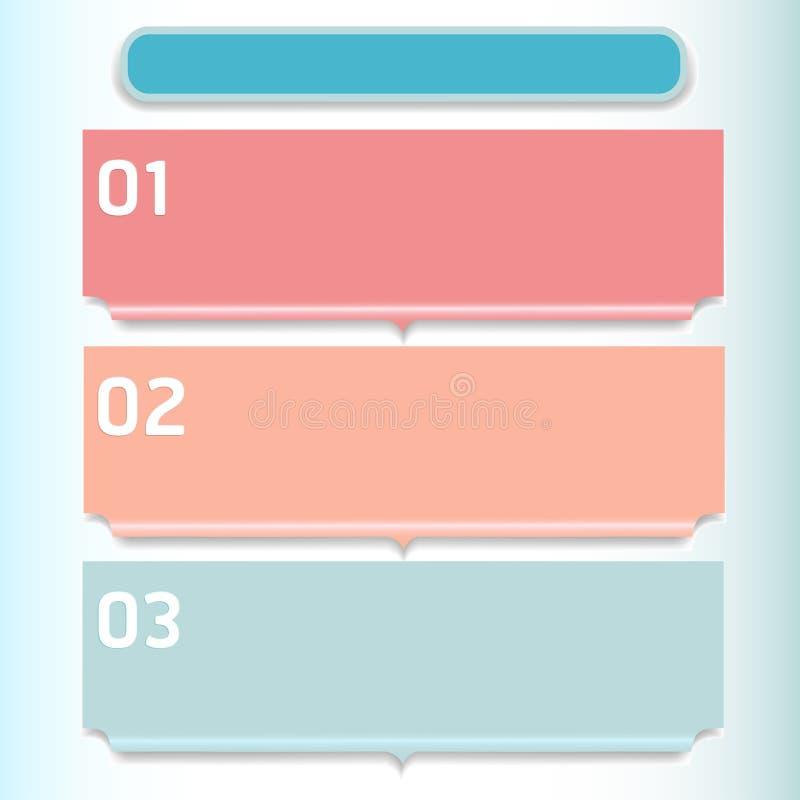 Puede ser utilizado para la disposición del flujo de trabajo, numera opciones, intensifica opciones libre illustration