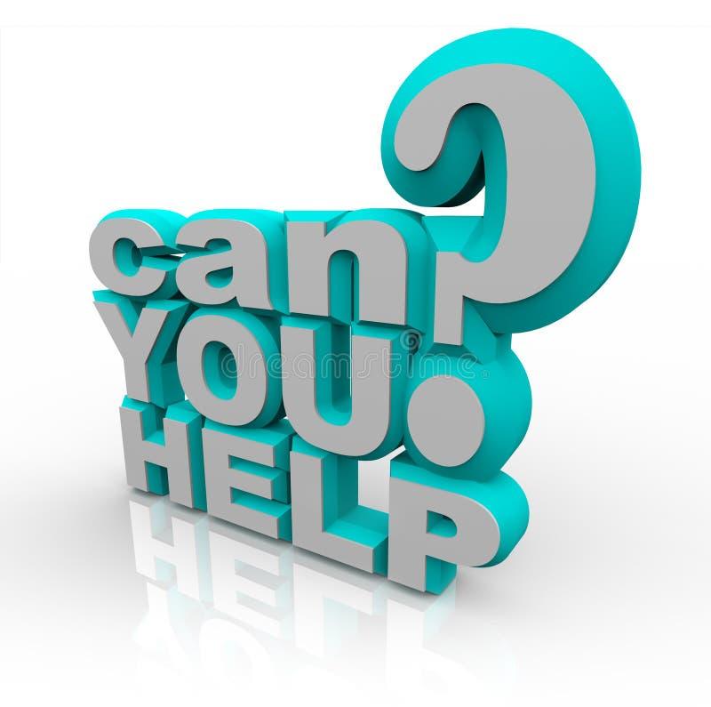 Puede usted ayudar a la súplica para la ayuda voluntaria financiera ilustración del vector