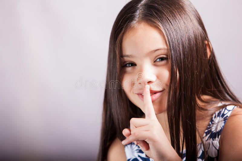 ¿Puede usted guardar un secreto? fotos de archivo libres de regalías