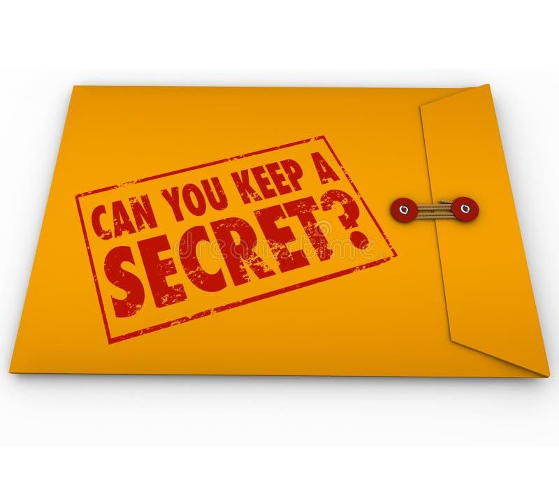 Puede usted guardar un sello amarillo secreto del sobre libre illustration