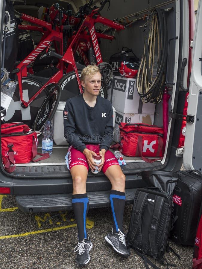 2018 pueden los 22, viaje de la bici de Italia nombraron el ` Italia de Giro d fotografía de archivo libre de regalías