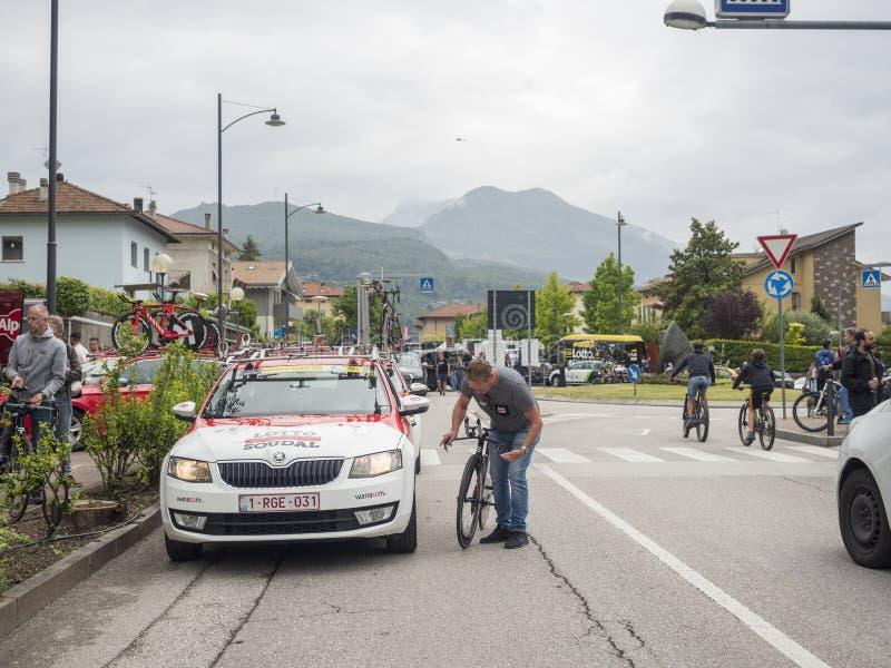 2018 pueden los 22, viaje de la bici de Italia nombraron el ` Italia de Giro d imagen de archivo
