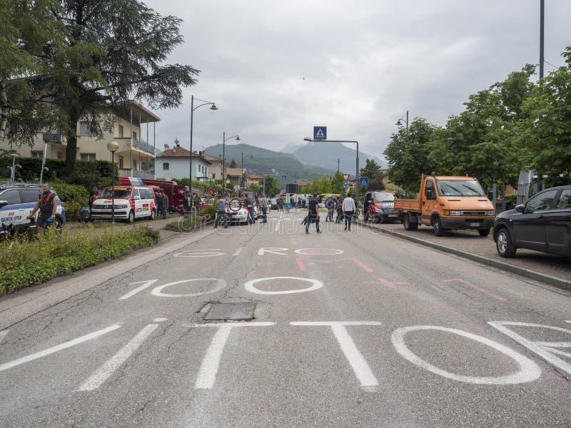 2018 pueden los 22, viaje de la bici de Italia nombraron el ` Italia de Giro d imagenes de archivo