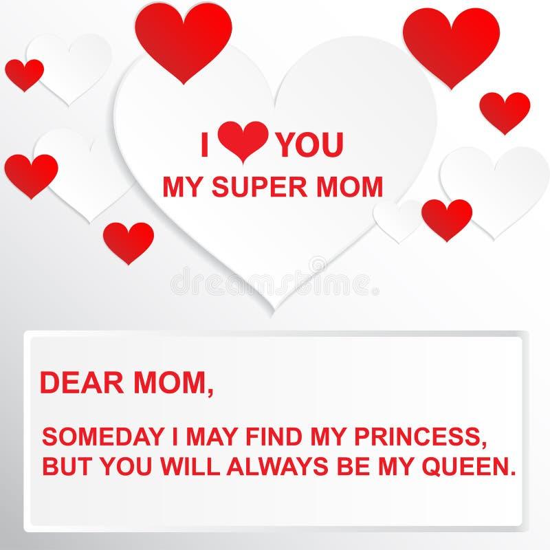 Puedo encontrar algún día a mi princesa, pero usted será siempre mi reina stock de ilustración