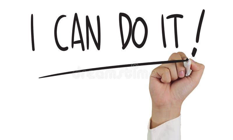 ¡Puedo hacerlo! imagenes de archivo