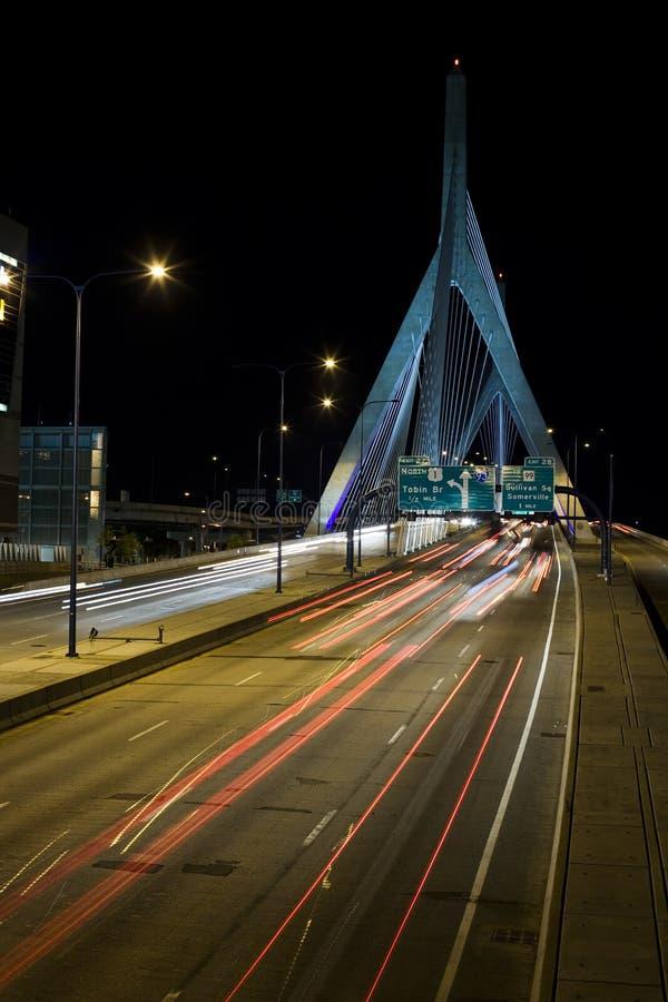 Puente 1 de Boston Zakim imagen de archivo