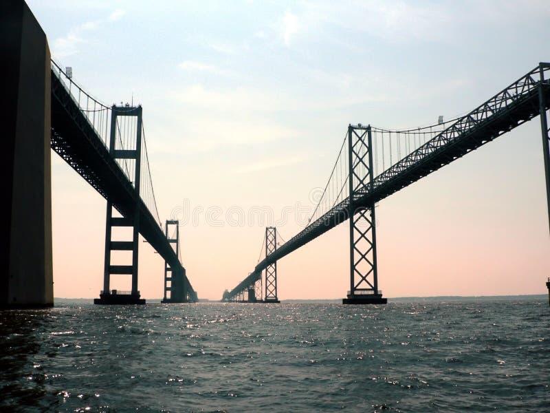 Puente 2 de la bahía de Chesapeake foto de archivo