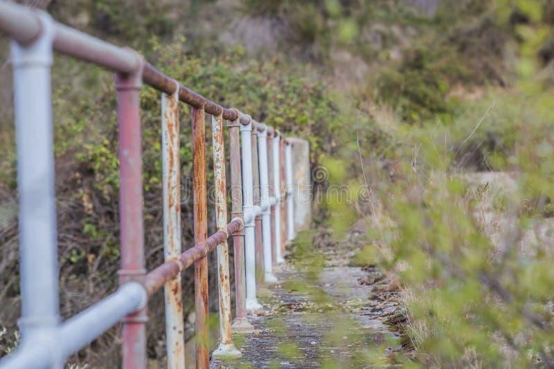 Puente abandonado fotografía de archivo