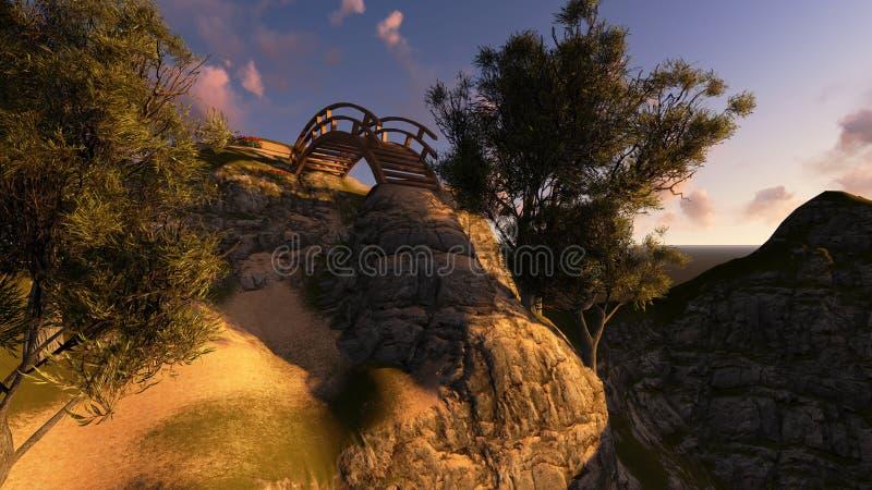 Puente al cielo stock de ilustración