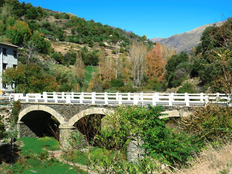 Puente arqueado del camino foto de archivo