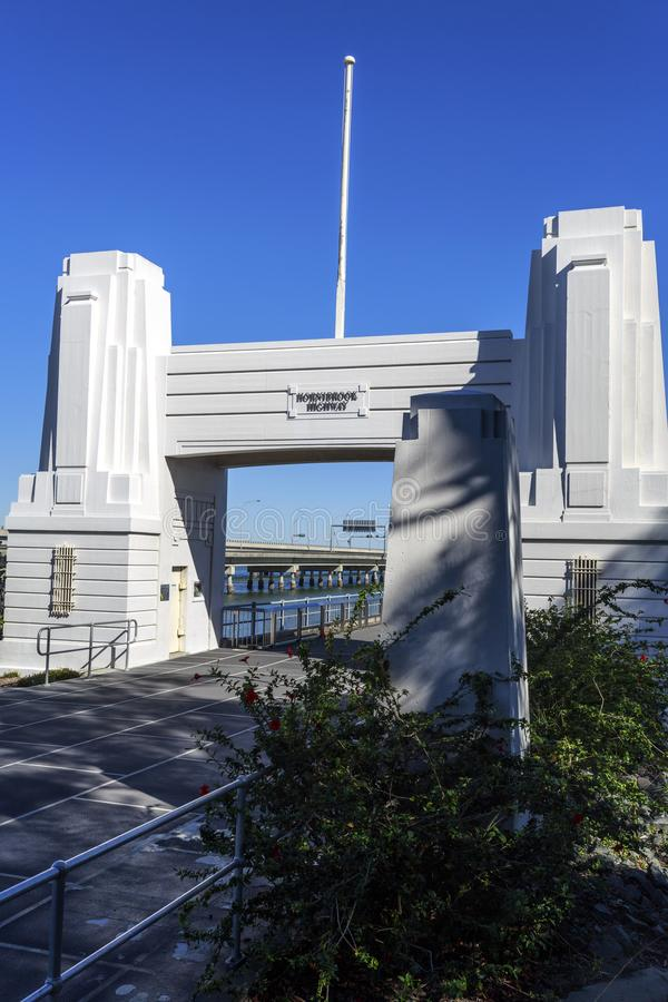 Puente Art Deco Portal de Hornibrook fotos de archivo libres de regalías
