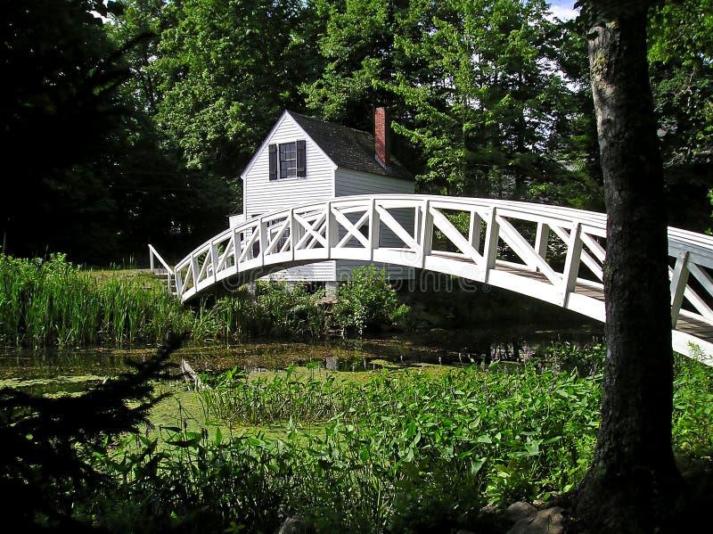 Puente blanco del pie fotografía de archivo