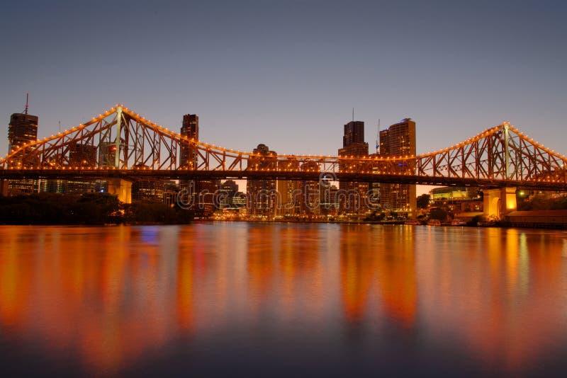 Puente Brisbane de la historia imagenes de archivo