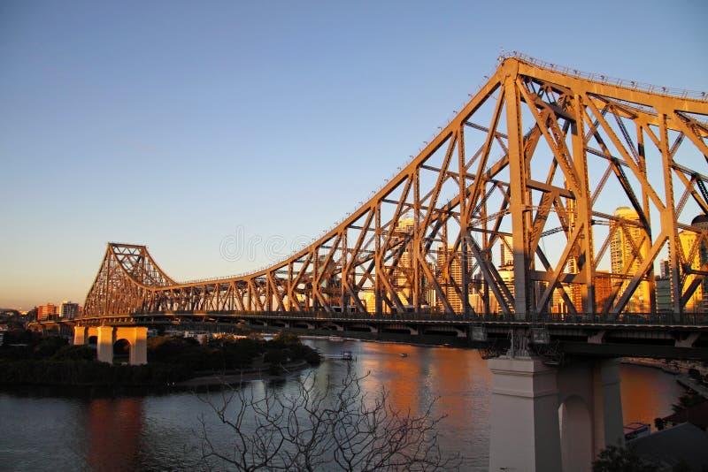 Puente Brisbane de la historia fotografía de archivo