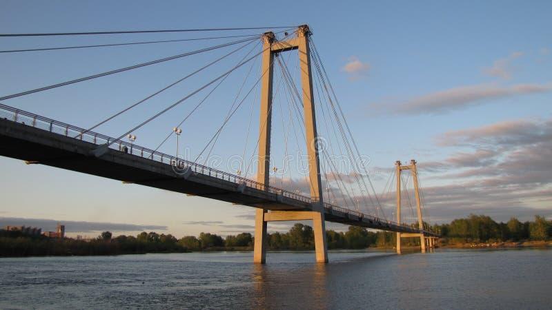 puente Cable-permanecido imagenes de archivo