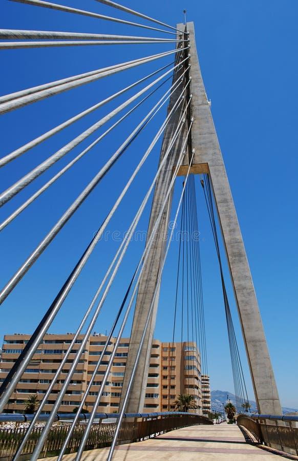 Puente cablegrafiado, Fuengirola, Andaluc3ia, España. imágenes de archivo libres de regalías