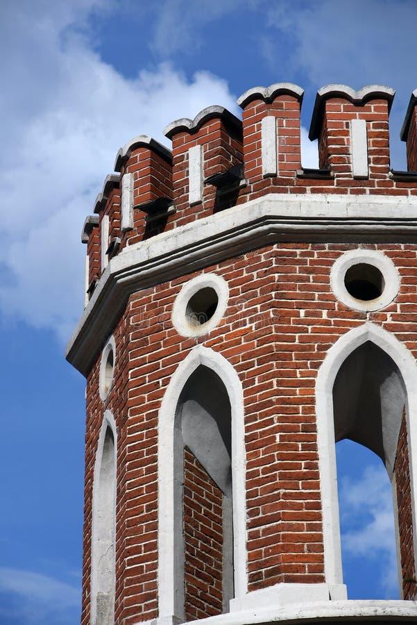 Puente calculado Arquitectura del parque de Tsaritsyno en Mosc? Foto de color fotos de archivo libres de regalías
