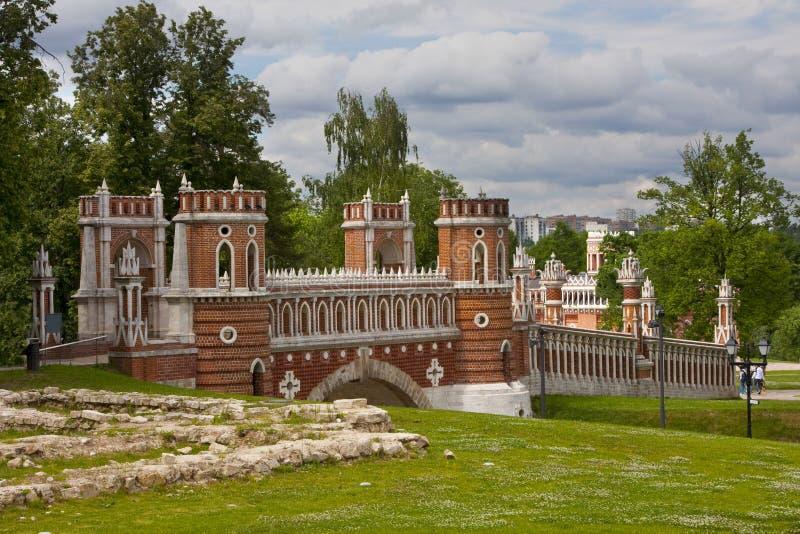 Puente calculado (estado de Moscú imagen de archivo